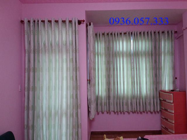 rèm phòng ngủ có họa tiết